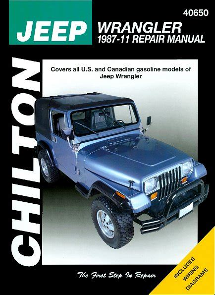 all car manuals free 1994 jeep wrangler spare parts catalogs jeep wrangler repair manual by chilton 1987 2011