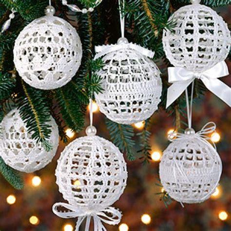 free thread crochet christmas ornament patterns snowballs thread crochet epattern leisurearts