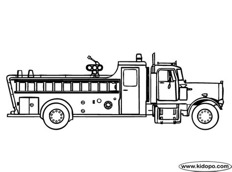 Fire Engine 2 Coloring Page