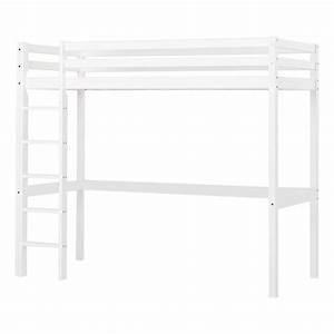Echelle Lit Mezzanine : lit mezzanine haut basic avec chelle 90x200 cm blanc ~ Teatrodelosmanantiales.com Idées de Décoration