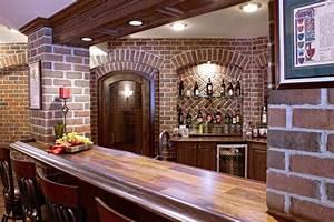Finished Basement Bar and Wine Cellar - Basement - detroit