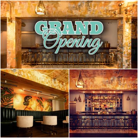 grand opening spanglish craft cocktail bar kitchen