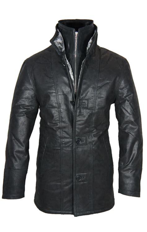 leather palace lammy coat heren