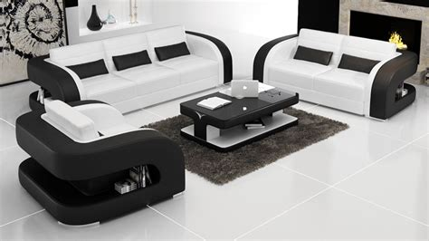 sofa design modern leather sofa  living room sets