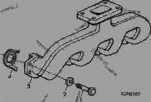 Exhaust Manifold - Tractor John Deere 5300 - Tractor