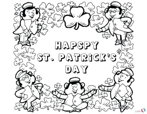 Saint Patrick Coloring Pages Or St Day Free Coloring Pages