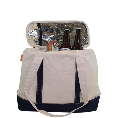 monogrammed small large cooler bag work lunch bag tote insulated beach park