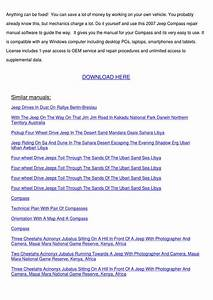 2007 Jeep Compass Service Repair Manual Softw By