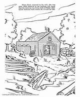 Coloring Plantation Finn Huckleberry Sawyer Tom Story Drawings Huck Twain Mark Adventure Designlooter Template Stories sketch template