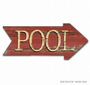 Pool Signs Patio Signs Swimming Pool From DesignHouseDecor On