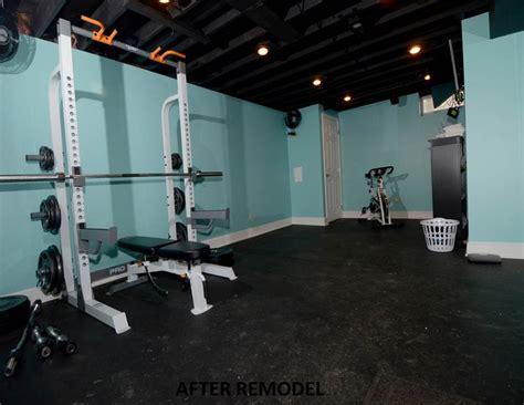 basement converted  work  gym njw construction