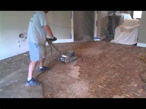 Glue Down Carpet Removal Machine by How To Remove A Glue Down Hardwood Floor Youtube