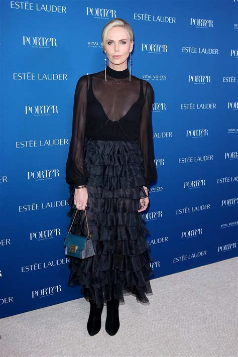 charlize theron attends porter's 3rd annual incredible ...