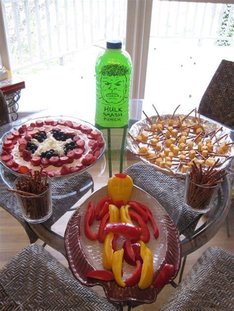 avengers party food capt america fruit salad thors