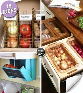 Rangement Légumes Cuisine : rangement fruits et l gumes dans une petite cuisine 18 id es inspirantes ~ Teatrodelosmanantiales.com Idées de Décoration