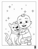 Coloring Cocomelon Pages Character sketch template