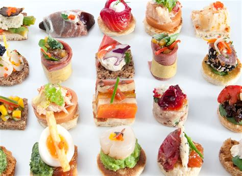 canape made finger food ideas to your rock youne