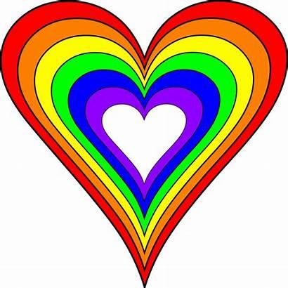 Heart Rainbow Svg Transparent Background Clipart Brighter