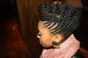 Flat Twist Updo Natural Hair Style
