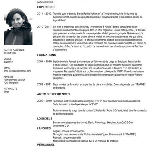 Mode De Cv Gratuit by Cv Template Word Francais Mode De Cv Gratuit Degisco