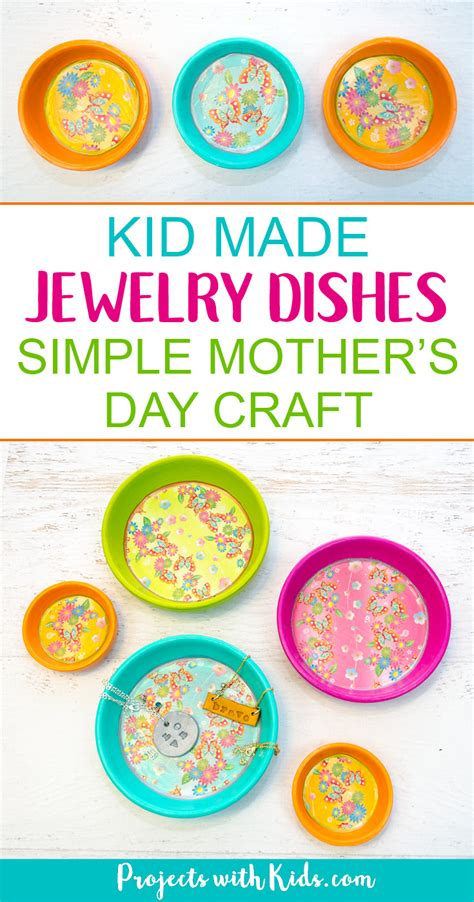 kid  jewelry dishes mothers day craft projects