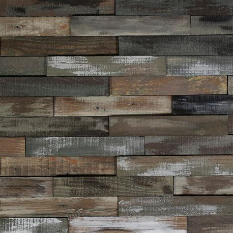 nuvelle  home sample deco planks weathered gray solid hardwood wall planks