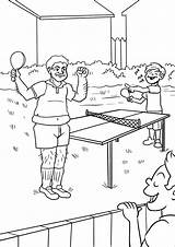 Tennis Coloring Table Pages Printable Onlinecoloringpages sketch template