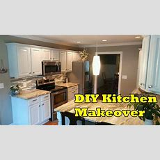 Diy Kitchen Makeover Cheap And Easy  Ourhouse Diy  Youtube