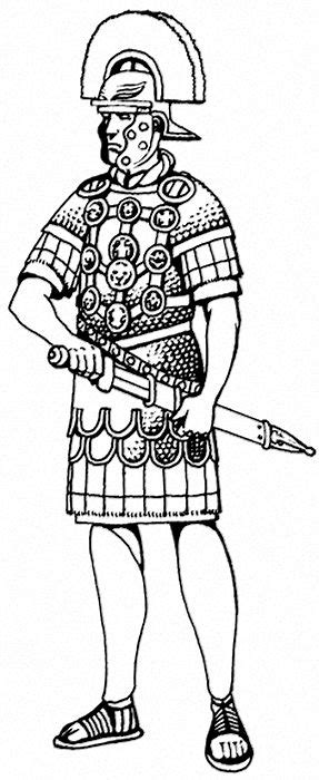 centurion romain coloring pages illustration craft images