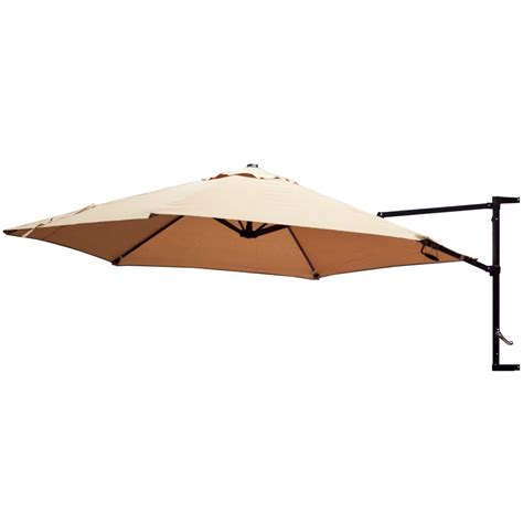 offset umbrella patio wall mount garden outdoor sun canopy