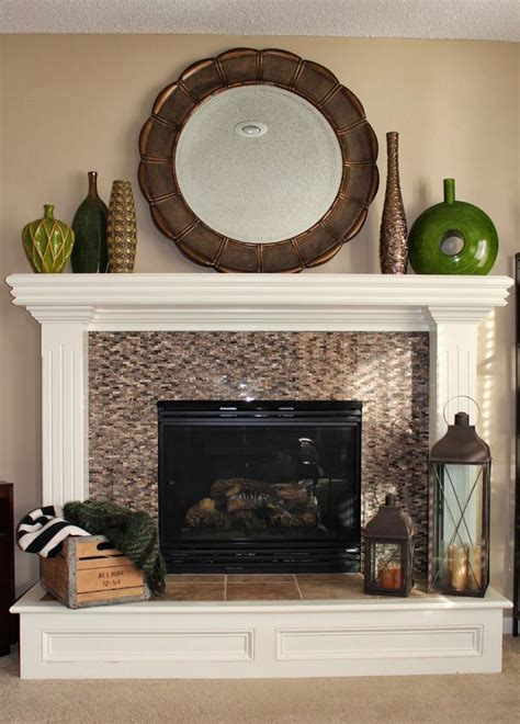 suburban spunk fireplace makeover phase 2 new tile surround fireplaces decoration makeovers