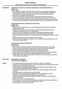 senior field service technician resume samples velvet jobs With field service technician resume sample