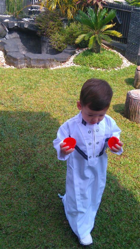 jual baju muslim koko anak gamis arab pria laki 1 sd 12