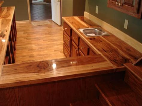 custom oak bar  hickory counter top  smith