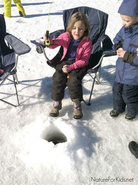 ice fishing  kids nature  kids