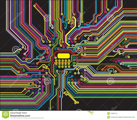 circuit colors color circuit stock illustration illustration of color