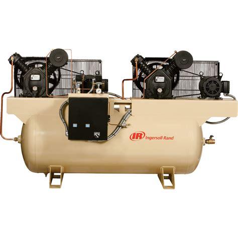 free shipping ingersoll rand air compressor duplex 7 5 hp 230 volt 3 phase 2475e7