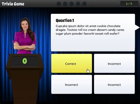 trivia time game show template