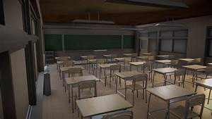Free Downloadable Japanese Classroom Download Free 3d Model By T I A N
