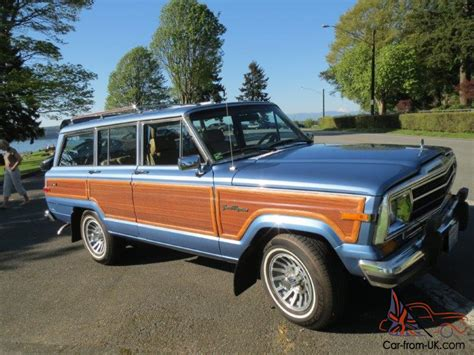 jeep wagoneer blue rare 1988 light blue metallic spinnaker blue jeep grand