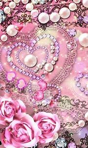 Pearls and hearts | Bling wallpaper, Iphone wallpaper ...