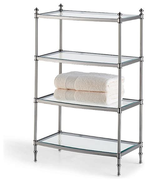 Etagere For Bathroom by Belmont 4 Tier Etagere Traditional Bathroom Cabinets