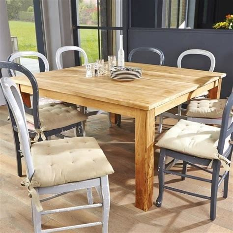 table haute carree 8 personnes table carr 233 e en teck brut qualite grade a achat vente table de jardin table carr 233 e en teck