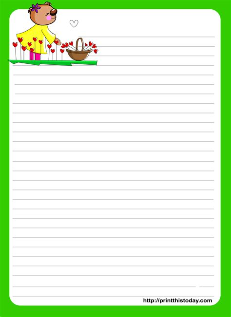 letter writing template letter writing paper