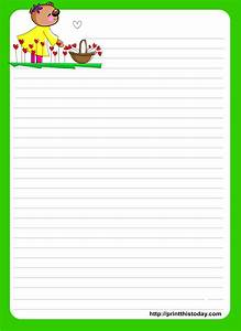 paper with beautiful border for letter writing printable friendly