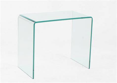123 table bout de canape en verre table basse console de
