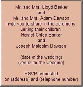 formal wedding invitation wording etiquette parte two With wedding invitation wording less formal
