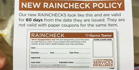 harris teeter shoppers important raincheck policy update