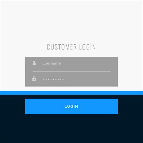 flat login form template design for your web or app