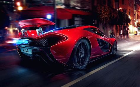 Mclaren 1920x1200 Night Lights Concept Art Glow Supercars